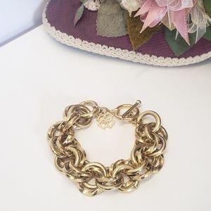 Jewelry - Unique  Chuncky Gold tone Chain Bracelet